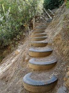 lépcső gumikból