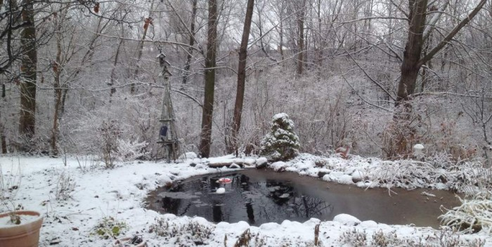 kerti tó téliesítése