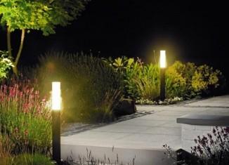 lámpák a kertben